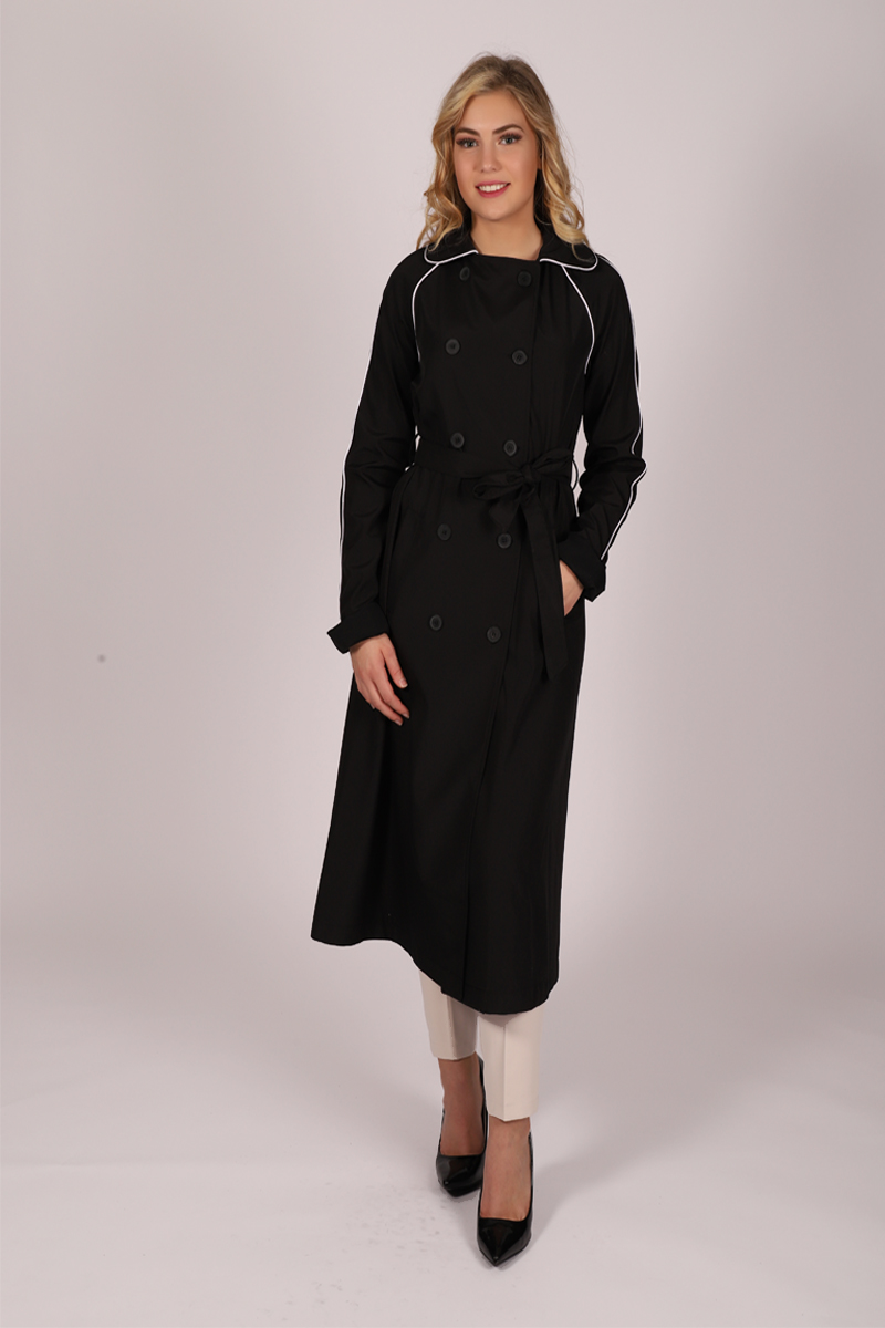 Manteau simple Puane - noir